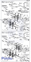 Instructions for Tamiya Double Gearbox page 3.