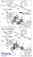 Instructions for Tamiya Single Gearbox page 2.
