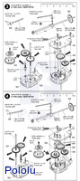 Instructions for Tamiya 4-Speed Crank-Axle Gearbox page 3.
