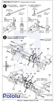 Instructions for Tamiya Twin-Motor Gearbox page 2.