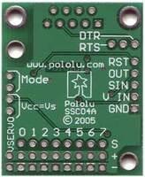 Pololu Serial 8-Servo Controller, back of PCB.