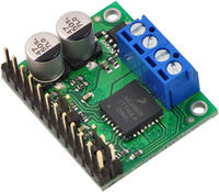 MC33926 motor driver carrier with included hardware soldered in.