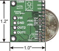 MC33926 motor driver carrier with dimensions.