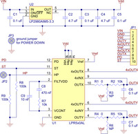 LPR510AL or LPR550AL dual-axis (pitch and roll or XY) gyroscope carrier schematic.