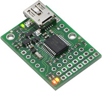 Micro Maestro 6-channel USB servo controller without headers.