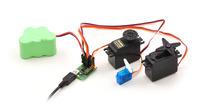 Micro Maestro 6-channel USB servo controller (fully assembled) controlling three servos.