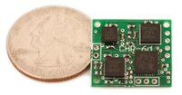CHR-6d inertial measurement unit with quarter for size reference.
