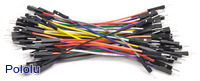 Premium Jumper Wire 50-Piece Rainbow Assortment M-M 3""