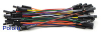 Premium Jumper Wire 50-Piece Rainbow Assortment F-F 3""