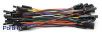 """Premium Jumper Wire 50-Piece Rainbow Assortment F-F 3"""""""