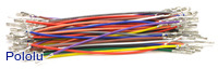 Wires with Pre-crimped Terminals 50-Piece Rainbow Assortment F-F 3""