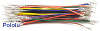 Wires with Pre-crimped Terminals 50-Piece Rainbow Assortment M-F 3""