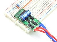 Pololu high-power motor driver in a breadboard.