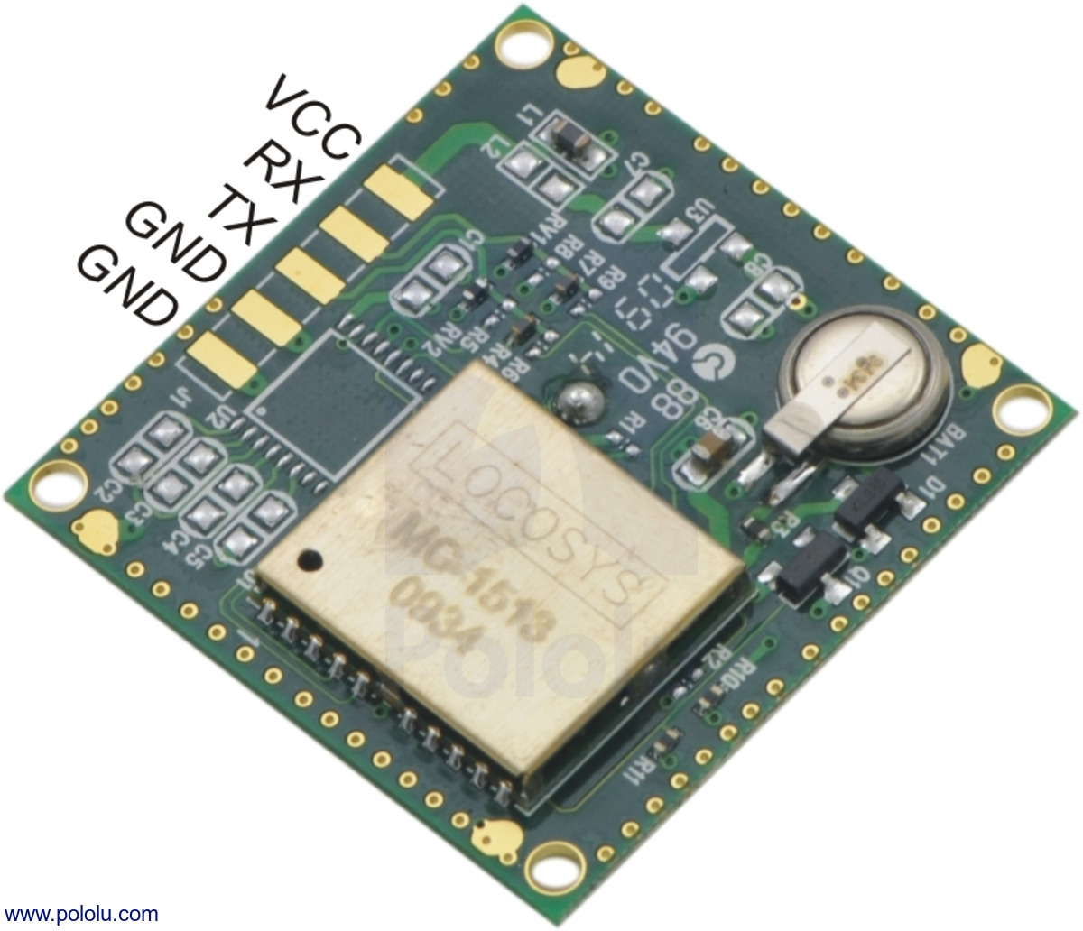 Pololu 66 Channel Ls20031 Gps Receiver Module Mt3329 Chipset Circuit Board Features