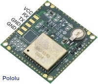 LS20031 GPS receiver module bottom view.