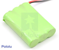 Rechargeable NiMH Battery Pack: 3.6 V, 700 mAh, 3x1 AAA Cells
