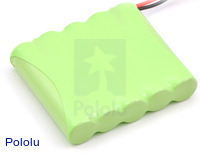 Rechargeable NiMH Battery Pack: 6.0 V, 700 mAh, 5x1 AAA Cells, XH Connector