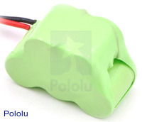 Rechargeable NiMH Battery Pack: 6.0 V, 200 mAh, 3+2 1/3-AAA Cells, JR Connector
