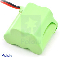Rechargeable NiMH Battery Pack: 6.0 V, 350 mAh, 3+2 2/3-AAA Cells, XH Connector