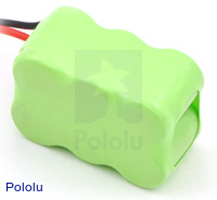 Rechargeable NiMH Battery Pack: 7.2 V, 200 mAh, 3x2 1/3-AAA Cells, JR Connector