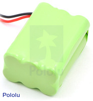 Rechargeable NiMH Battery Pack: 7.2 V, 700 mAh, 3x2 AAA Cells