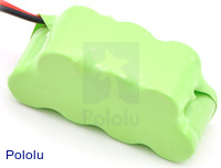 Rechargeable NiMH Battery Pack: 8.4 V, 150 mAh, 4+3 1/3-AAA Cells, XH Connector