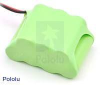 Rechargeable NiMH Battery Pack: 8.4 V, 350 mAh, 4+3 2/3-AAA Cells