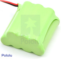 Rechargeable NiMH Battery Pack: 8.4 V, 700 mAh, 4+3 AAA Cells, XH Connector