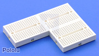 170-point breadboards can be connected for more prototyping space.