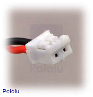 2-pin female JST connector.
