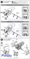 Instructions for Tamiya mini motor gearbox (8-speed) kit page3.