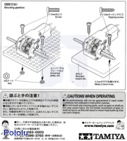 Instructions for Tamiya mini motor gearbox (8-speed) kit page 4.