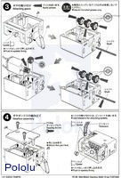 Instructions for Tamiya mini motor multi-ratio gearbox (12-speed) kit page 2.