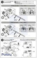 Instructions for Tamiya mini motor low-speed gearbox (4-speed) kit page3.