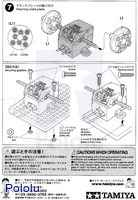 Instructions for Tamiya mini motor low-speed gearbox (4-speed) kit page 4.