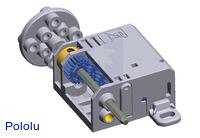 3D rendering of Tamiya's 70190 mini motor multi-ratio gearbox (12-speed).