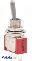 Toggle Switch: 3-Pin, SPDT, 5A
