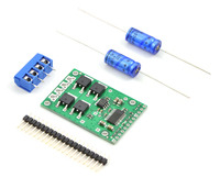 Pololu high-power motor driver CS with included hardware.