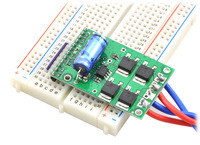 Pololu high-power motor driver CS in a breadboard.