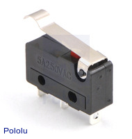 Snap-Action Switch with 15.6mm Bump Lever: 3-Pin, SPDT, 5A