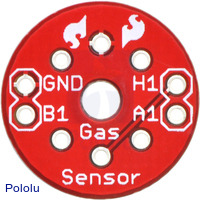 Sparkfun MQ gas sensor carrier, top view.