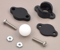 "Pololu ball caster with 3/8"" plastic ball with included hardware."