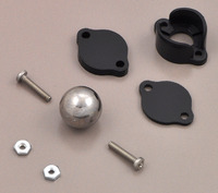 "Pololu ball caster with 1/2"" metal ball with included hardware."
