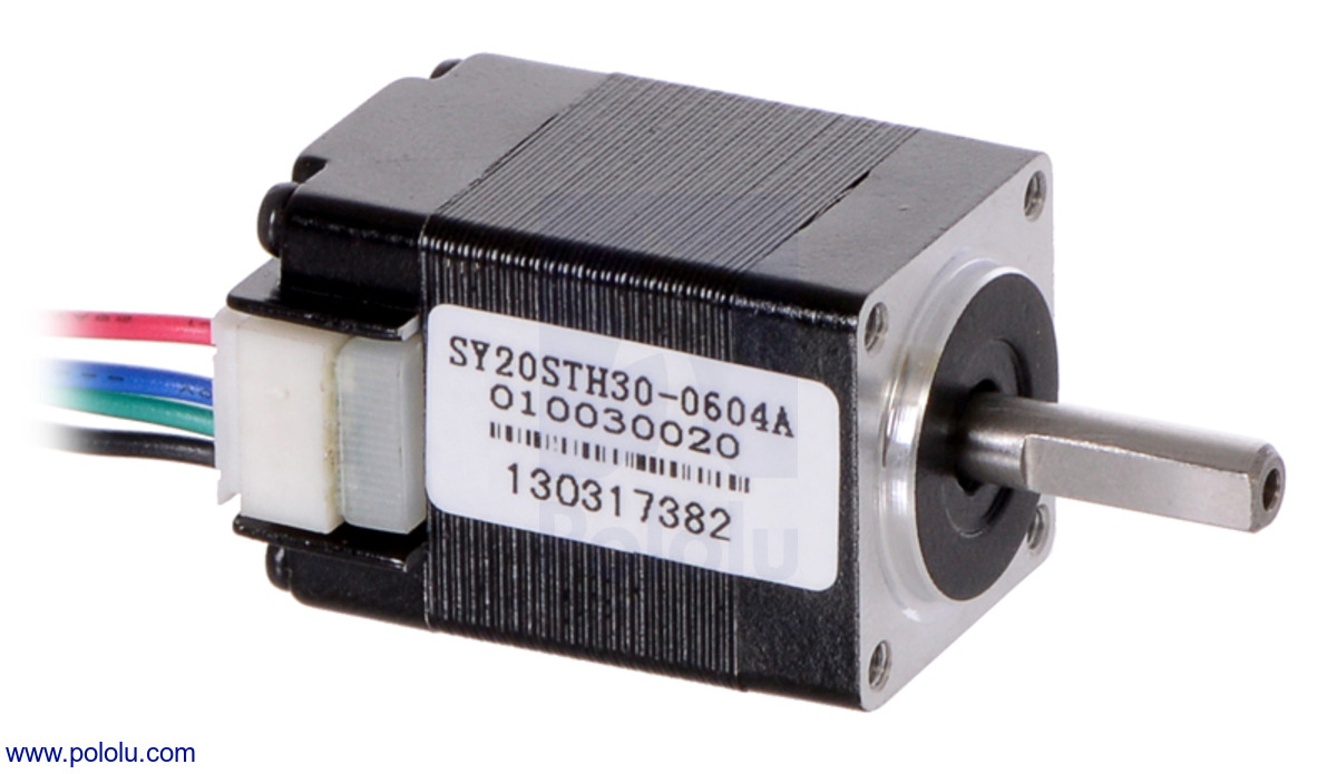 Pololu stepper motor bipolar 200 steps rev 20 30mm 3 for 3 phase stepper motor