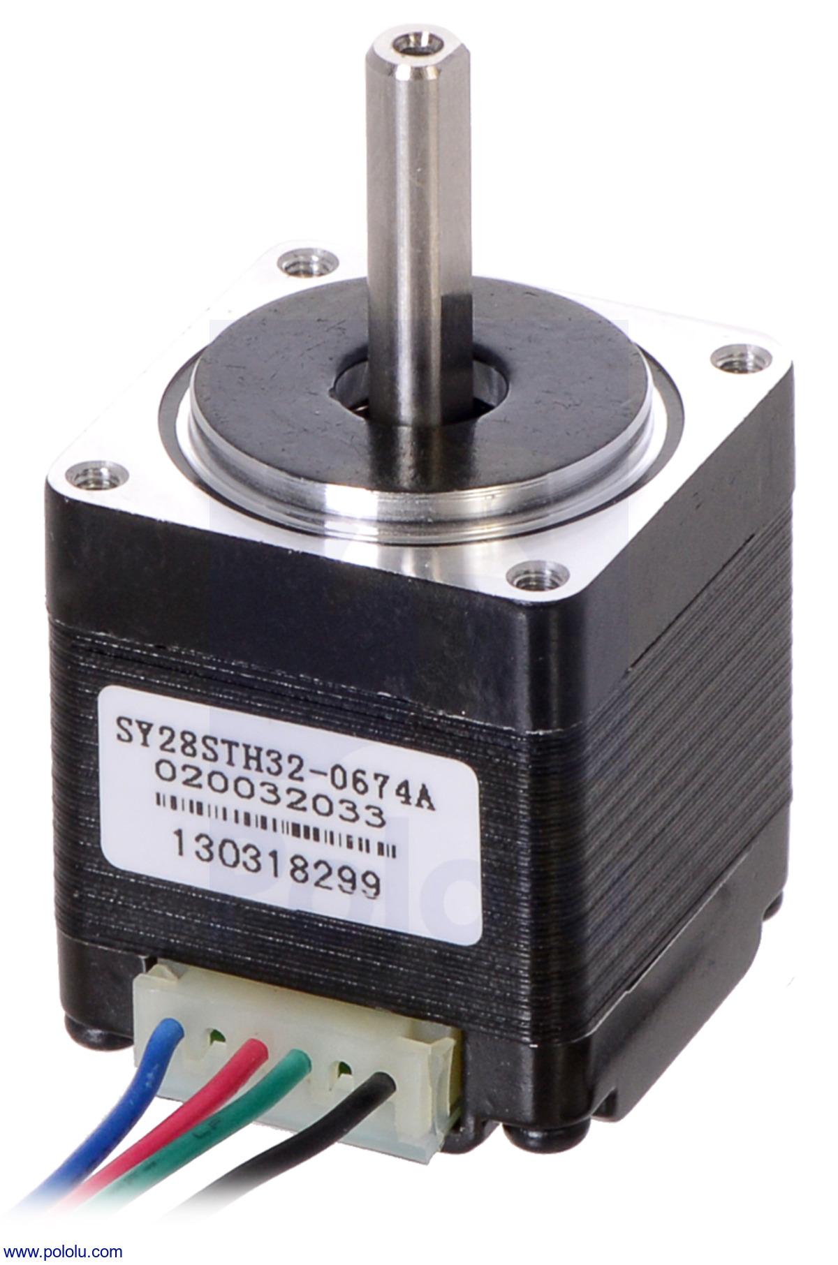 Pololu Stepper Motor NEMA 14 Bipolar 200 Steps//Rev 35×26mm 7.4V 0.28 A//Phase