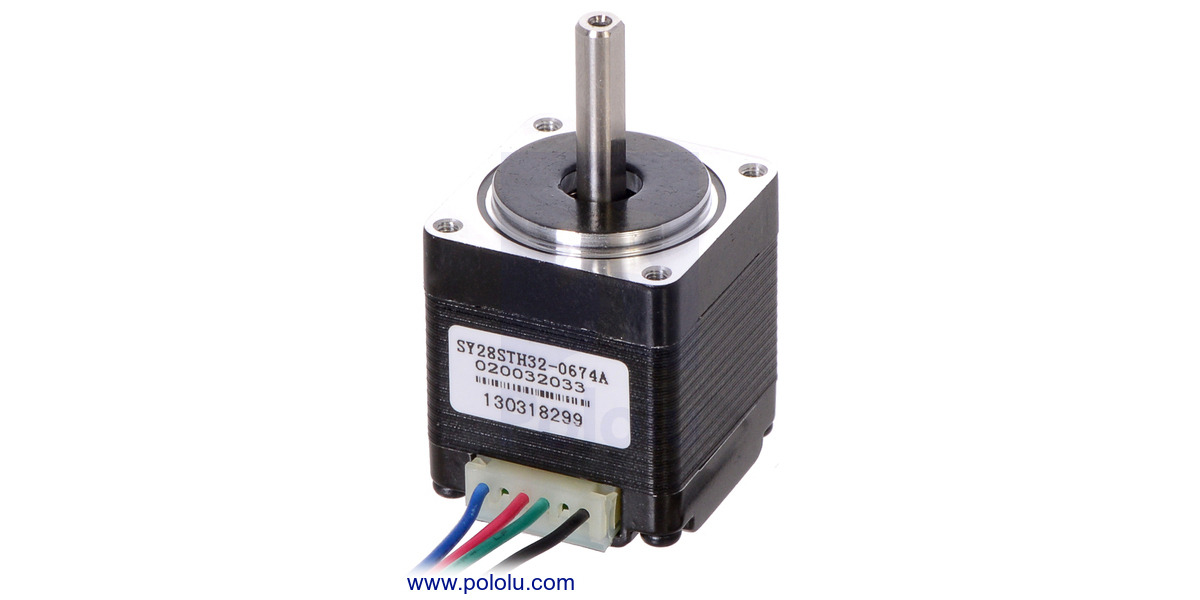 Pololu Stepper Motor Bipolar 200 Steps Rev 28 32mm 3