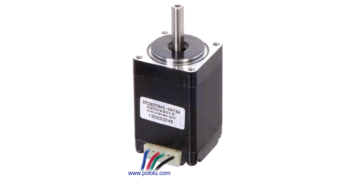 Pololu Stepper Motor Bipolar 200 Steps Rev 28 45mm 4