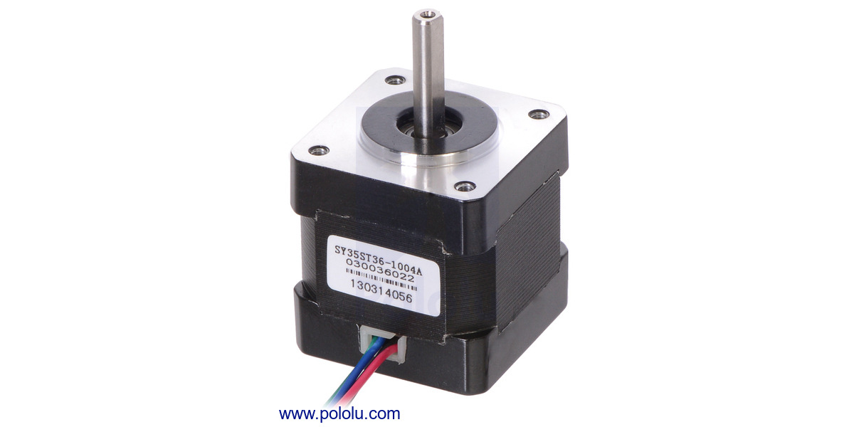 Pololu Stepper Motor NEMA 14 Bipolar 200 Steps//Rev 35×28mm 10V 0.5 A//Phase