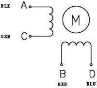 Bipolar stepper motor wiring diagram.