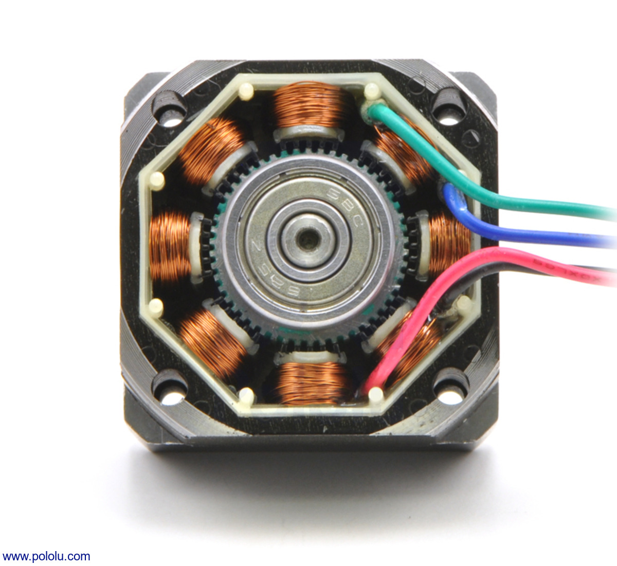 Pololu Stepper Motor Bipolar 200 Steps Rev 5776mm 32v 28 A 12 Lead 3 Phase Wiring Diagram On Ev Ac The Inside Of